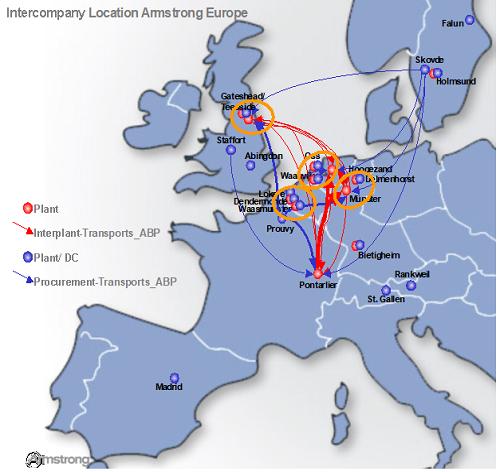 阿姆斯壮欧洲区域运输优化