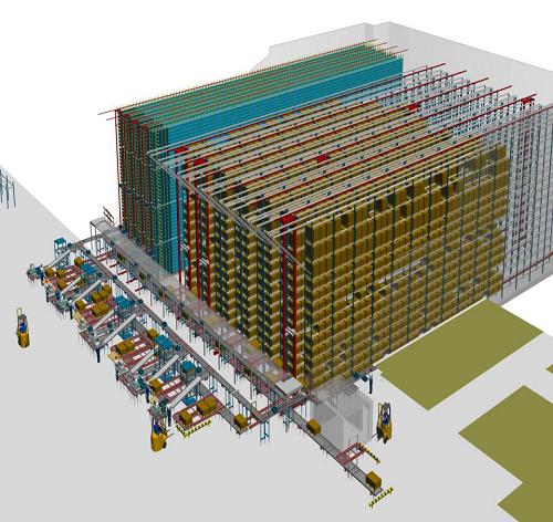 KBA全自动化立体仓库设计